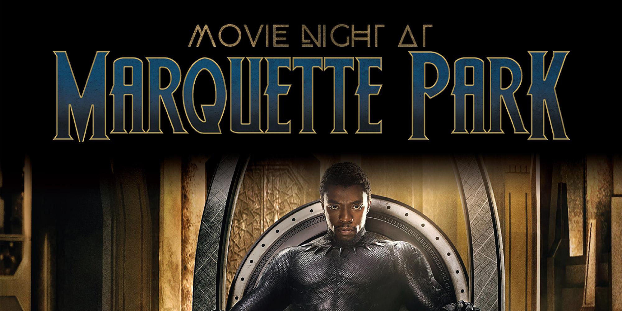 Black Panther movie poster.