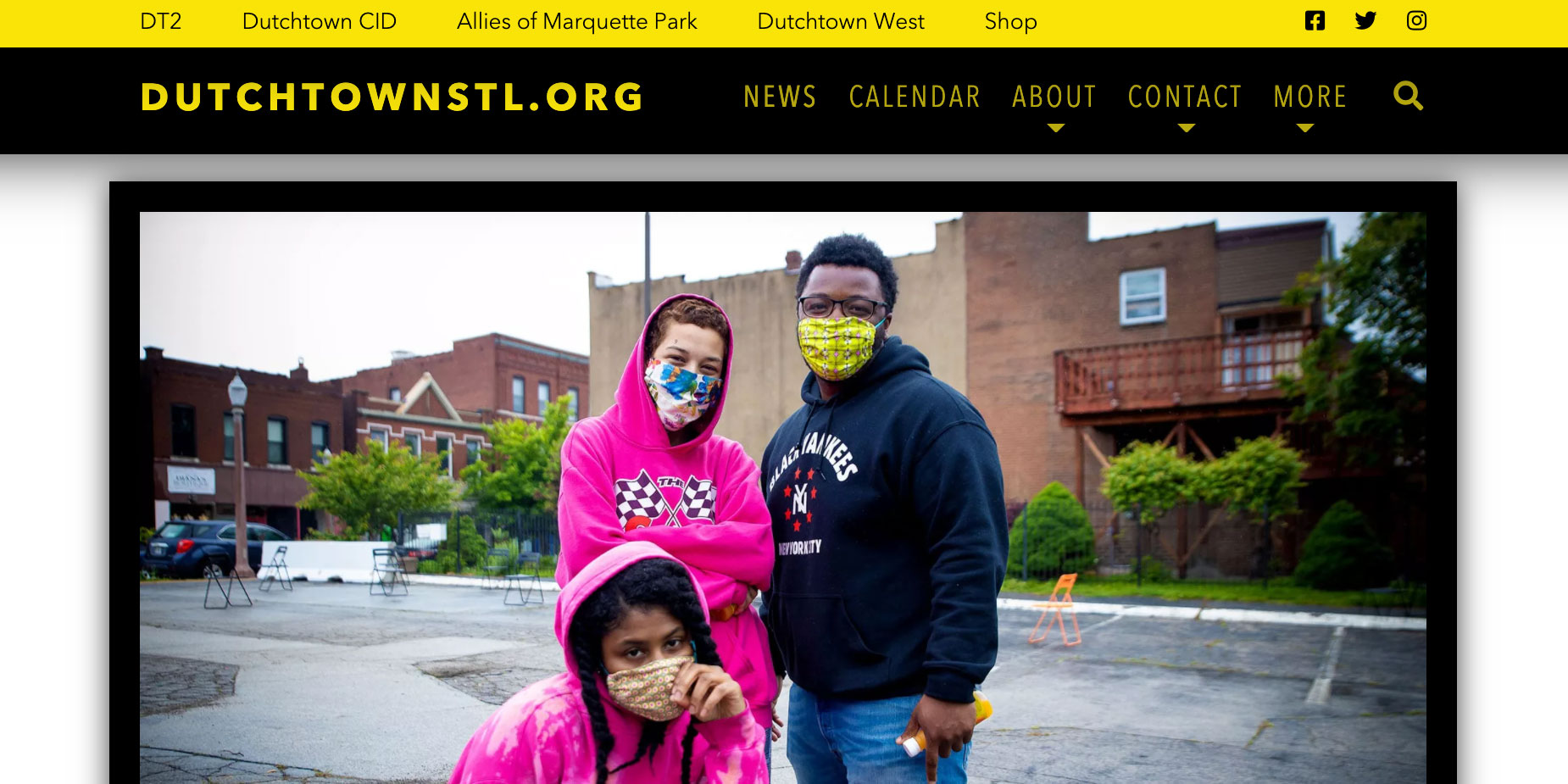Screenshot of DutchtownSTL.org.